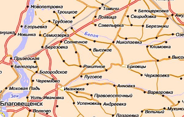 Скачать карту Ивановского